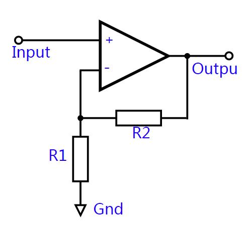 基本的非反相运算放大器电路-什么是运算放大器图片